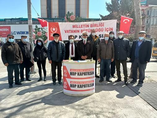 HDP'nin Kapatılması İçin  İmza Kampanyası Başlattılar
