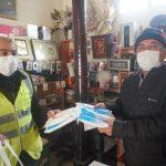 Esnafa 500 Bin Maske Dağıtıldı
