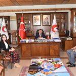 Hakim Yargun ve Savcı Sevgili'den Başkan Veli Gök'e Veda Ziyareti