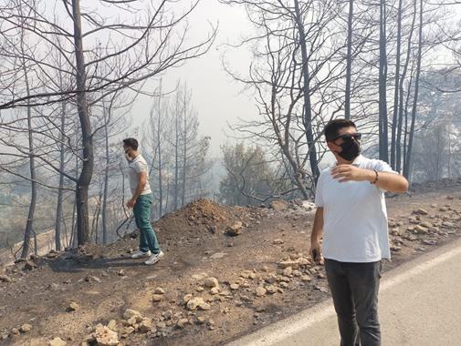CHP Heyeti Yangın Bölgesinde